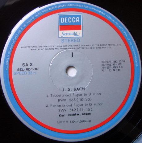 DECCA Serenata / KARL RICHTER, - Bach Toccata & Fugue, NM!