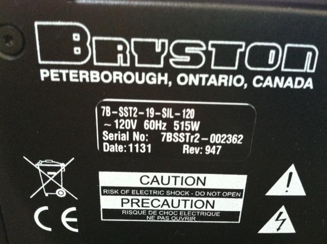 Bryston 7BSST2 Mint Trade