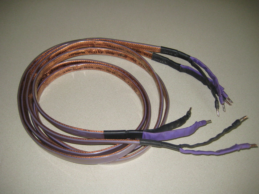 Analysis plus Oval 9 purple/black pair of 8 foot w bananas