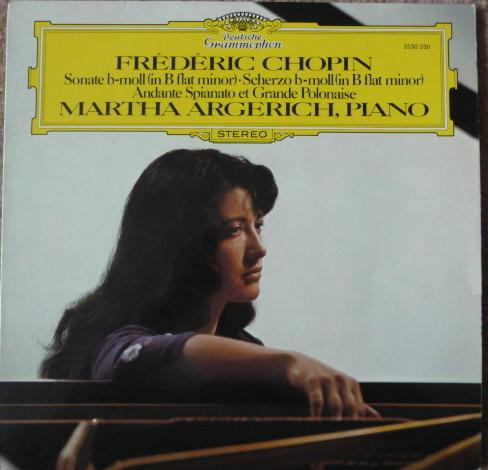 CHOPIN  - MARTHA ARGERICH PIANO DG LP EXCEL