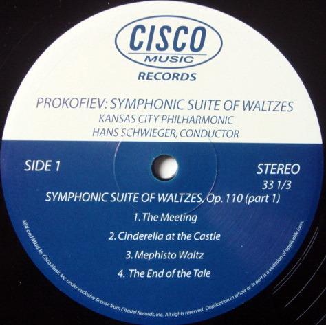 ★Audiophile 180g★ Cisco Records / SCHWIEGER, - Prokofiev Symphonic Suite of Waltzes, MINT(OOP)!