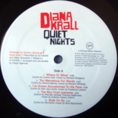 ★Audiophile 180g★ Verve Records / DIANA KRALL, - Quiet Night, MINT!