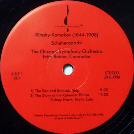 ★Audiophile 180g★ Chesky / REINER, - Rimsky-Korsakov Scheherazade, MINT(OOP)!
