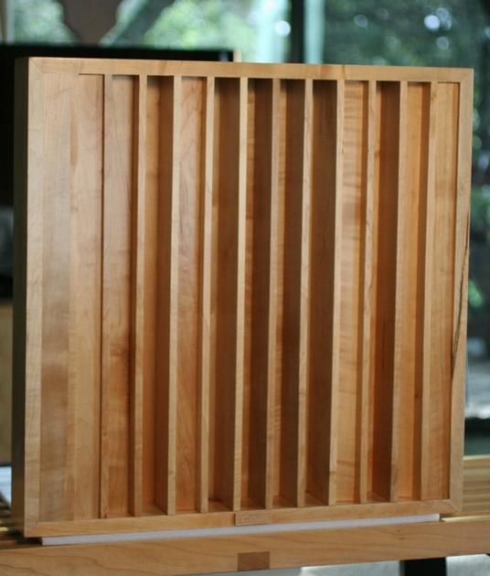 "Core Audio Designs AD-2 v.3 Acoustic Diffusor 24""w x 24""h x 4""d. Solid Maple."