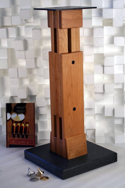 """Core Audio Designs Model """"B"""" v.2 Adjustable Speaker Stand. Height variable from 22""""-29"""""""