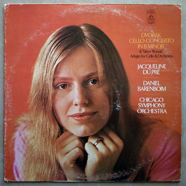ANGEL | JACQUELINE DU PRE/BARENBOIM/DVORAK - Cello Concerto, Silent Woods, Adagio for Cello and Orchestra / VG+