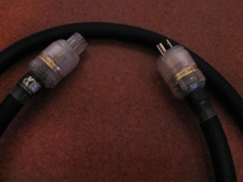 Vintage Audio Lab (Valab) 6' High Current Power Cord  w/ Rhodium Plated Plug