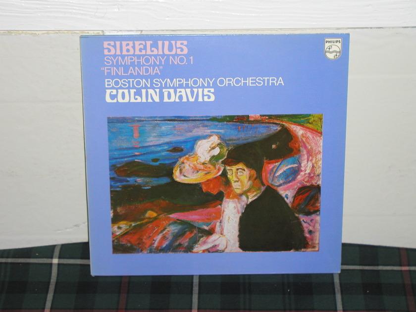 Davis/BSO - Sibelius No.1 Finlandia Philips Import Pressing 9500 140