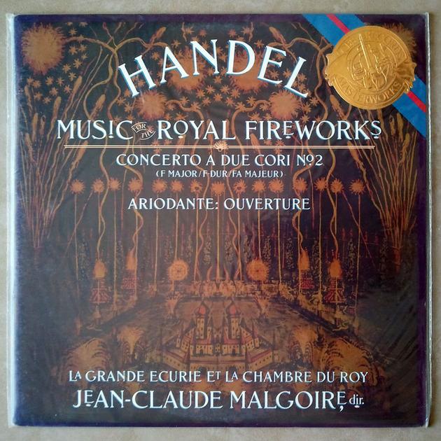 Sealed CBS | MALGOIRE/HANDEL - Fireworks Music, Concerto A Due Cori No. 2, Ariodante Overture