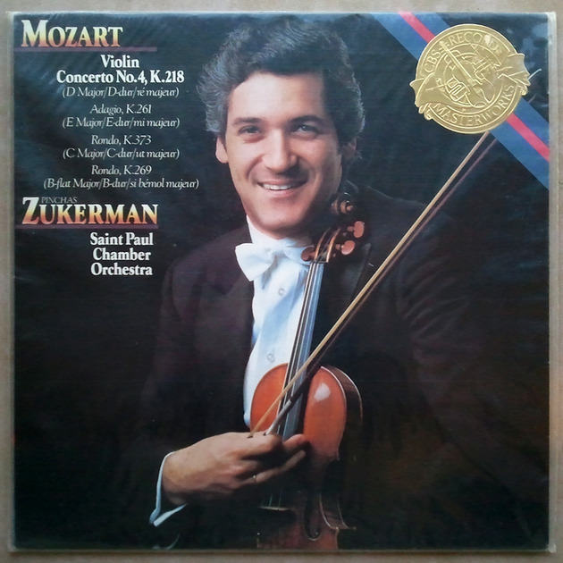 Sealed CBS | ZUKERMAN/MOZART - Violin Concerto No. 4 K. 218