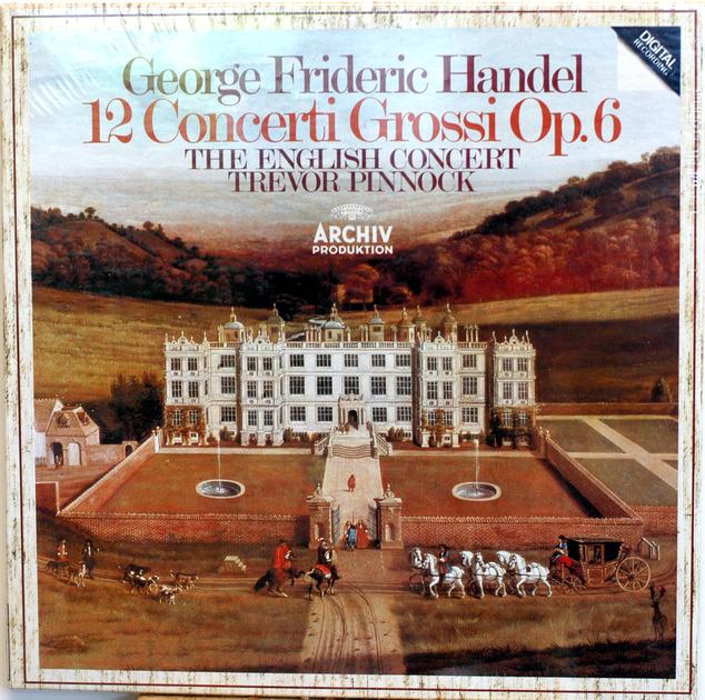 Handel 12 Concerto Grossi Op 6 - SEALED English Concert Pinnock  Archive German 3-lp box