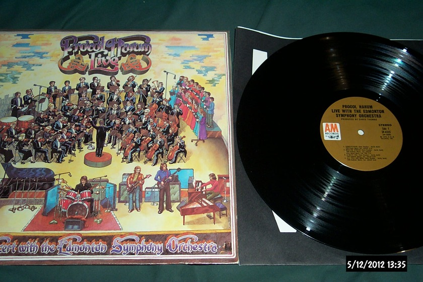 Procol Harum - Live With The Edmonton Symphony Orchestra First Pressing A & M LP NM
