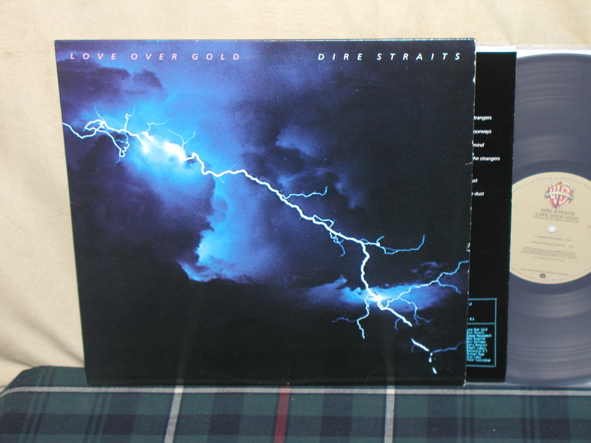 Dire Straits Love Over Gold - WB Tan/crosshatches first issue from 1982