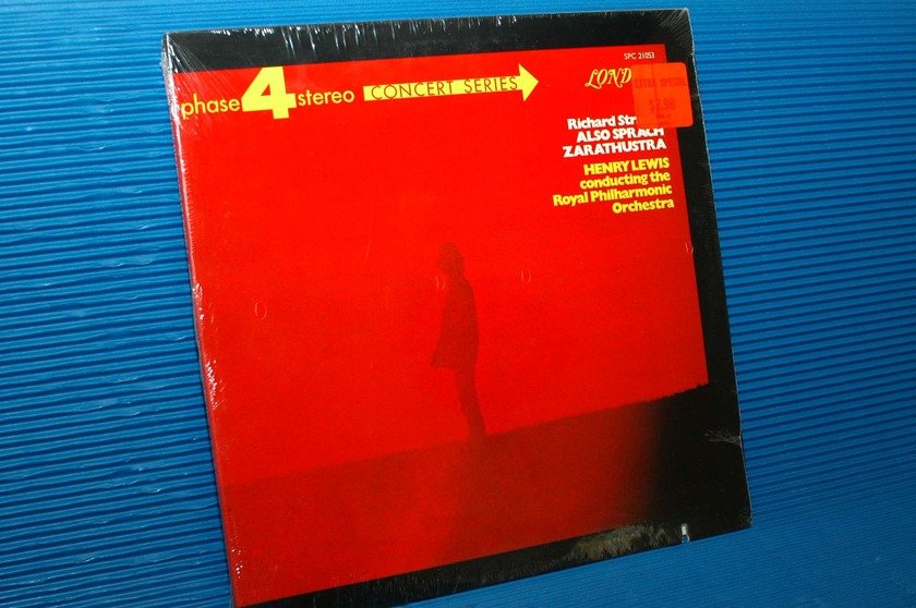 "STRAUSS/Lewis - Also - ""Also Sprach Zarathustra"" - London phase 4 1969 sealed!"
