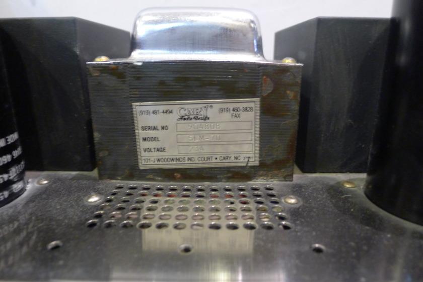 Cary Audio SLM 70 Mono block Pair - 230V
