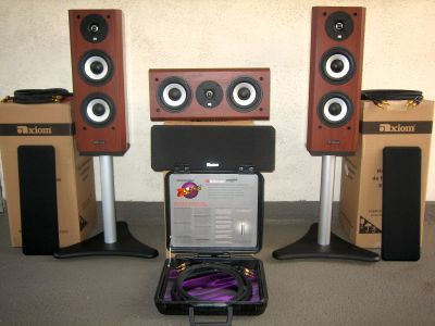 Axiom Audio M22 + VP100 & more front set of 3 ht speakers