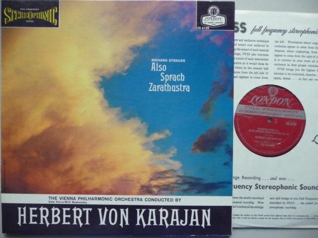 RICHARD STRAUSS  - ALSO SPRACH ZARATHUSTRA LONDON LP EXCELLENT