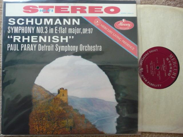 SCHUMANN  - SYM NO. 3  PAUL PARAY MERCURY LP EXCEL