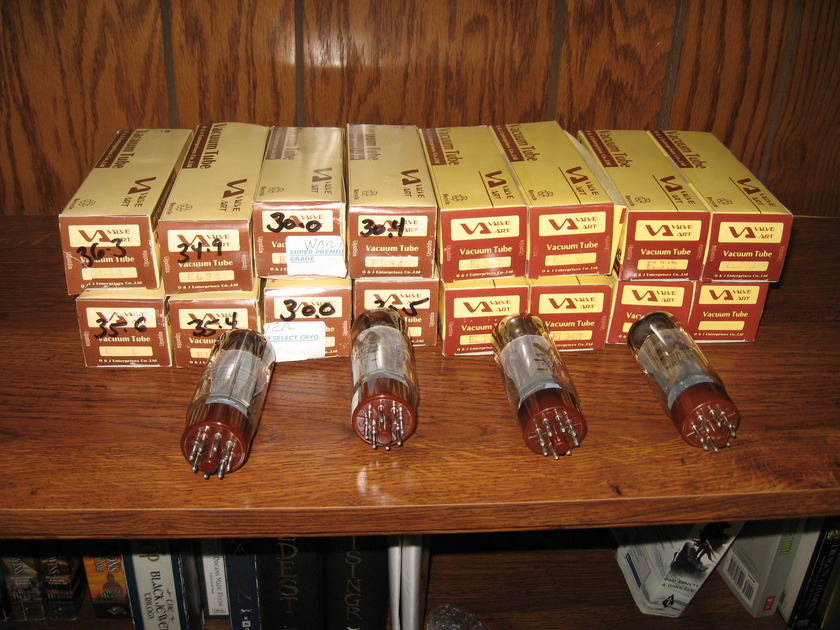 valve art el-34 tubes (16 total) USED