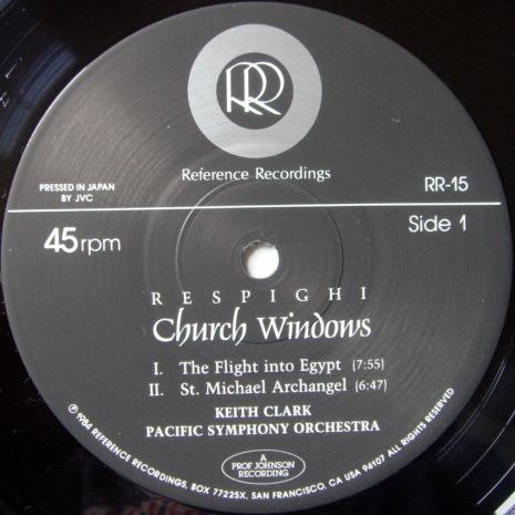 ★Audiophile 45RPM★ Reference Recordings / KEITH CLARK, - Respighi Church Windows, MINT, TAS LP!