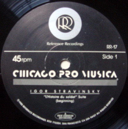 ★Audiophile 45RPM★ Reference Recordings / CHICAGO PRO MUSICA, - Stravinsky L'Histoire du Soldat, NM(OOP)!