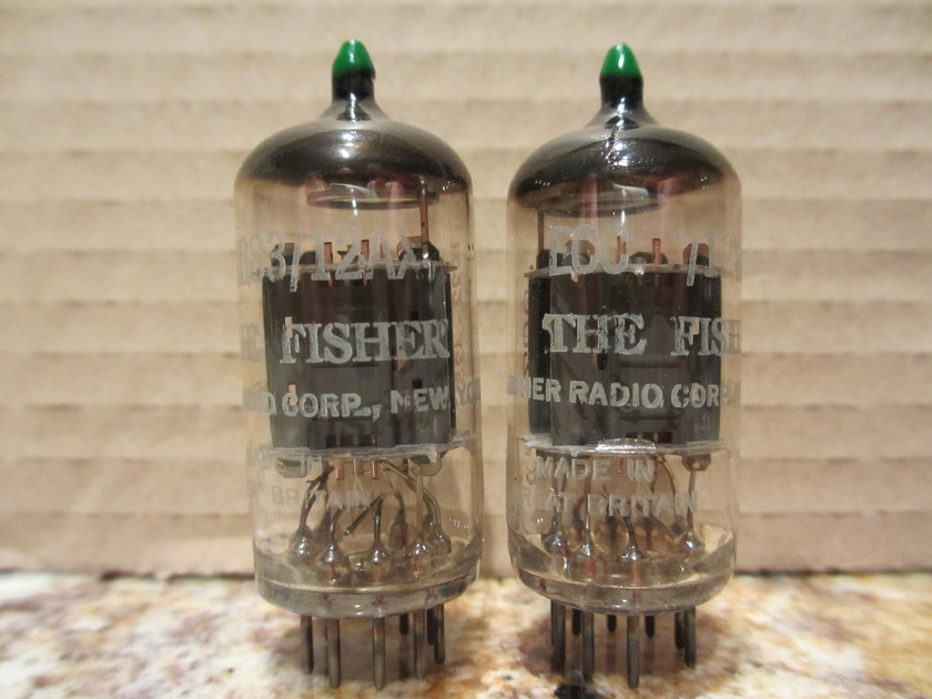 Matched Pair Mullard 12AX7 tubes: Phono Grade Pair; Copper Posts-- Originally from Vintage Tube Services