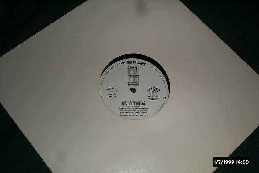 Springsteen & Jackson Browne - No Nukes Promo 12 inch 45 RPM NM