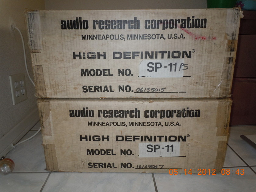 AUDIO RESEARCH  SP-11MKII $2850