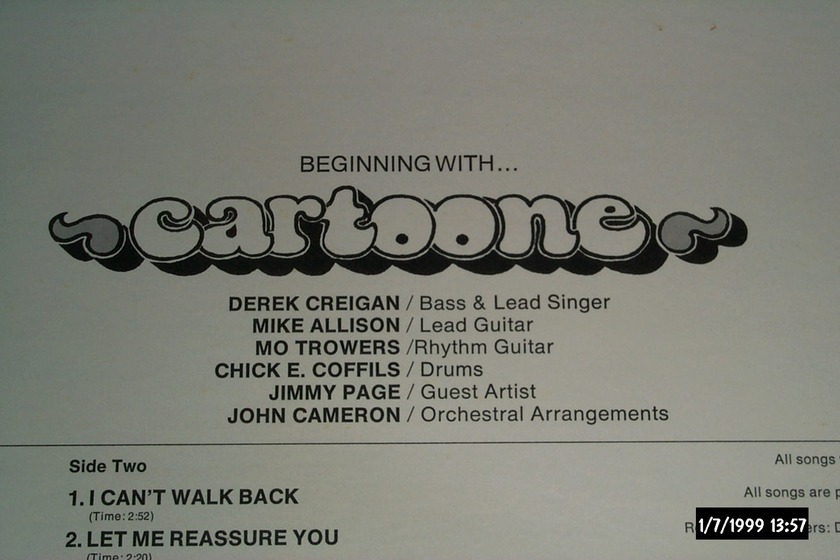 Cartoone - S/T With Jimmy Page LP NM