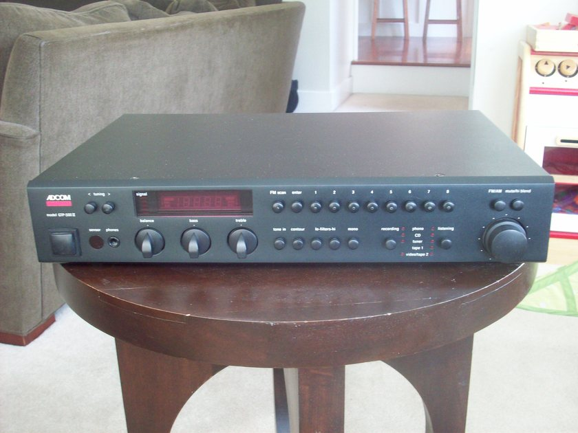Adcom GTP-500 II preamp/tuner, includes GCD-600 CD player