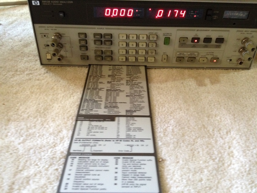 Hewlett Packard 8903B Audio Analyzer ,Test Bench Sale!