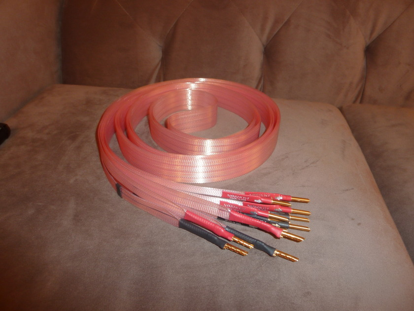 Nordost  Heimdall series 1 4m bi-wire speaker cables free ship US 48 save $$$$