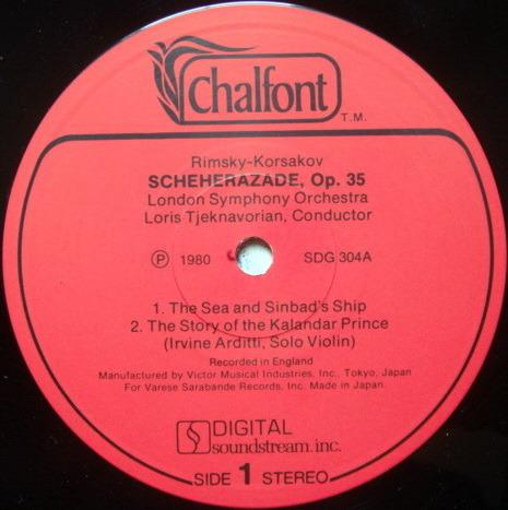 ★Audiophile★ Chalfont / TJEKNAVORIAN, - Rimsky-Korsakov Scheherazade, NM!