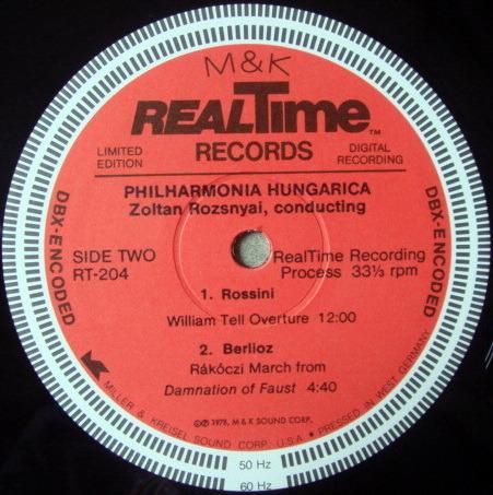 ★Audiophile★ M&K RealTime / ROZSNYAI, - Rossini Overtures, DBX-Encoded Version, NM!