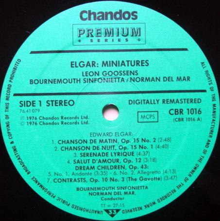 ★Audiophile★ Chandos / GOOSSENS-MAR, - Elgar Miniatures, NM!