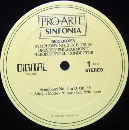 ★Audiophile★ Pro Arte / KEGEL, - Beethoven Symphony No.2, NM!
