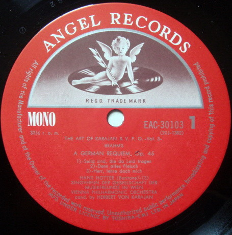 ★Audiophile★ Toshiba EMI / KARAJAN, - Mozart Requiem (MONO), NM!