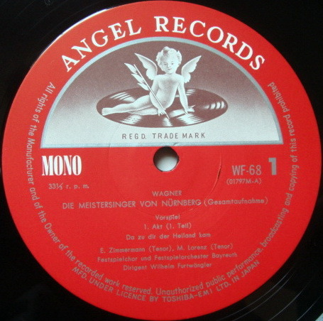 ★Audiophile★ Toshiba EMI / FURTWANGLER, - Wagner Meistersinger von Nurnberg, NM, 5 LP Box Set!