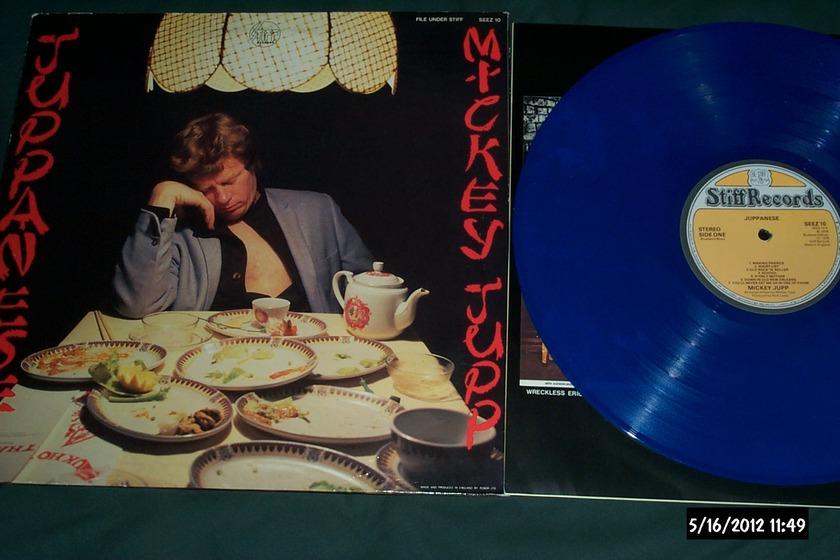 Mickey Jupp - UK Blue Vinyl stiff Nick Lowe juppanese lp nm