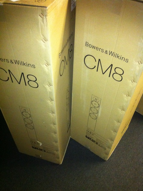 B&W CM8 gloss black New factory sealed