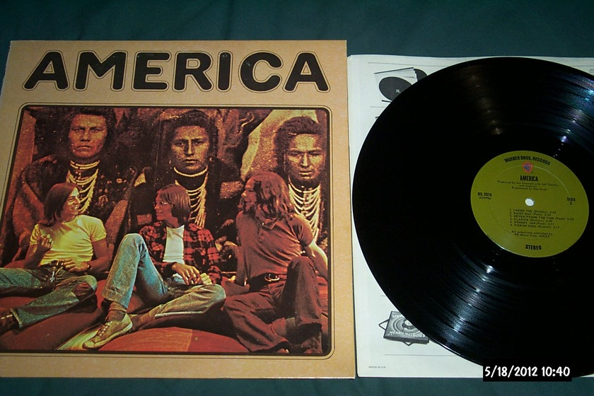 America - S/T first pressing wb green olive label