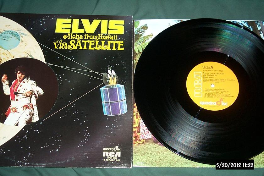 Elvis Presley - Aloha From Hawaii cd-4 quadradisc lp nm