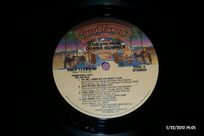 Donna summer - 2Lp Promo Live And more nm