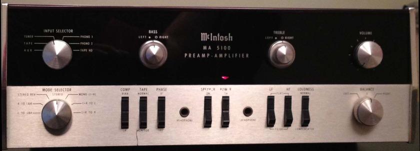 McIntosh MA 5100 Vintage McIntosh MA5100 Solid State Amplifier