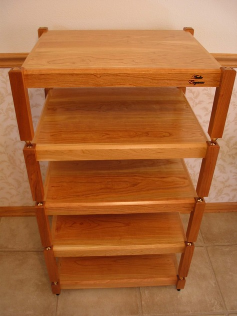 Audio Elegance Dakota Cherry wood five tier stand
