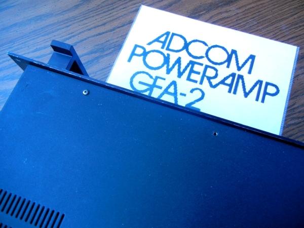 Adcom GFA-2 power amplifier