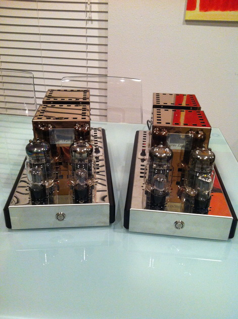 Audio Mirror       bargain 45W SET mono blocks  with  latest upgrade dynamic autobias