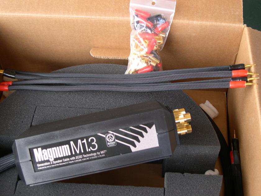 MIT Magnum M1.3 BiWire. Rare 12 ft pair Demo in 10/10 condition.  PRICE REDUCED! LIFETIME WRNTY