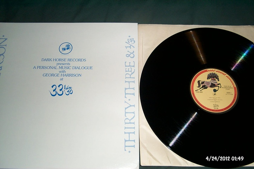 George Harrison - A Personal Music Dialogue Promo LP NM Dark Horse Label