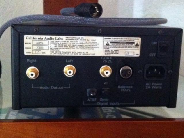 California Audio Labs Alpha Tube Analog Processor DAC (with balanced cable)